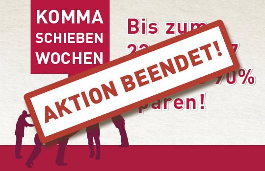 KOMMA SCHIEBEN WOCHEN BIS ZUM 23.02.2017